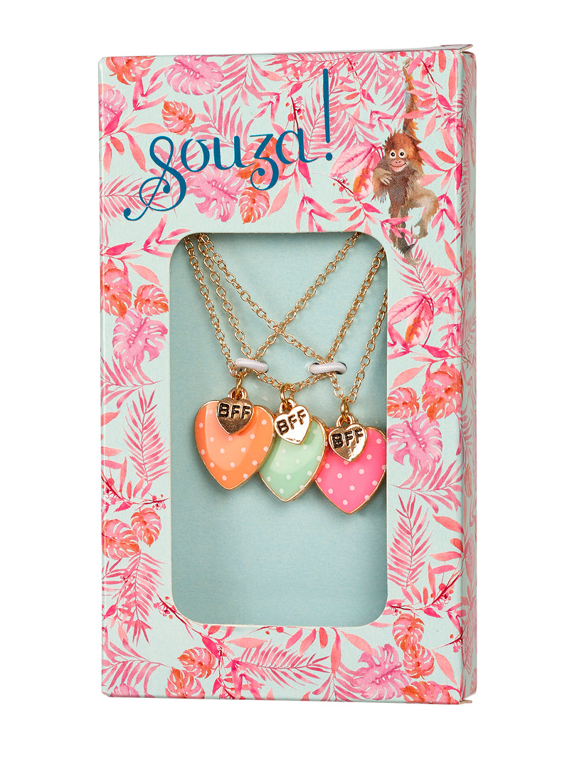 Gift box Mirthe, 3 BFF necklaces