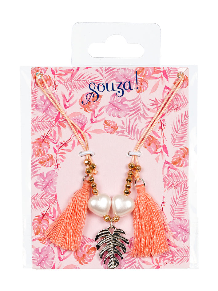 Gift pack Monica, necklace peach