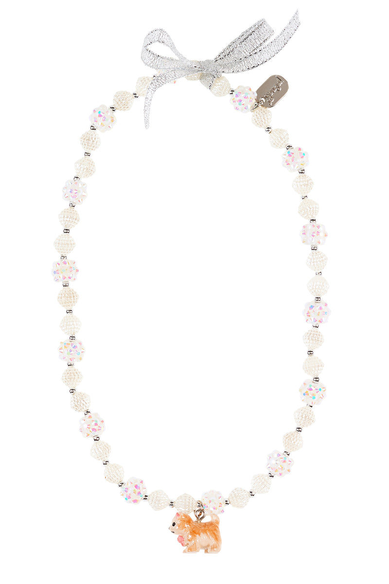 Necklace Hanni dog, off white