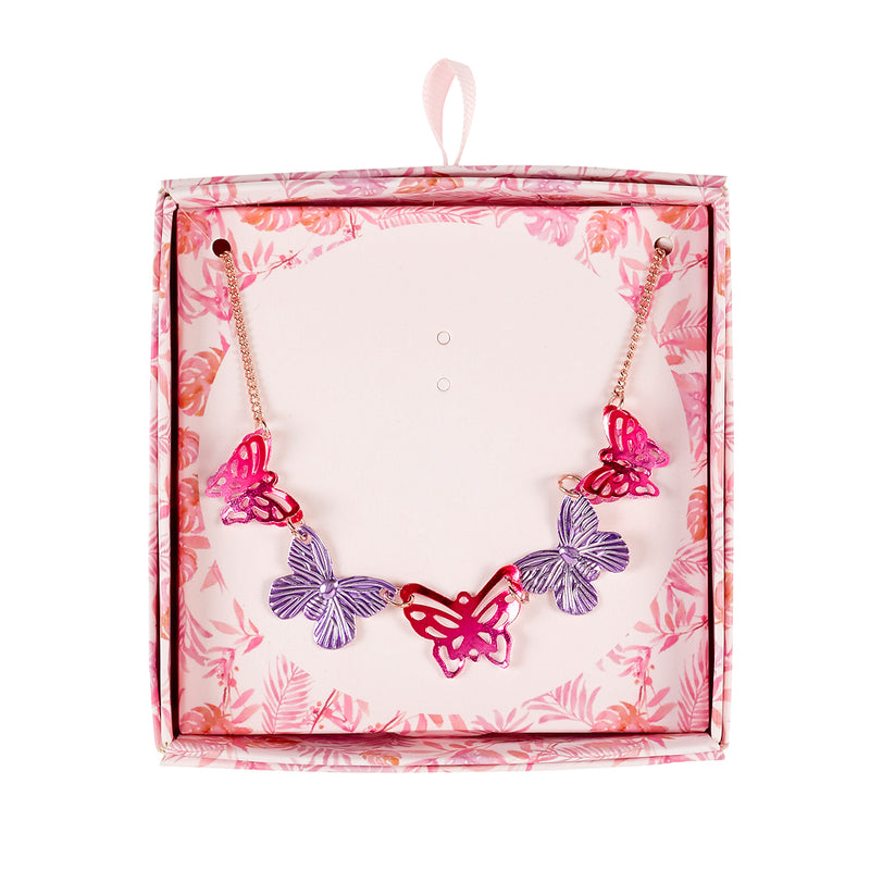 Giftbox necklace butterfly