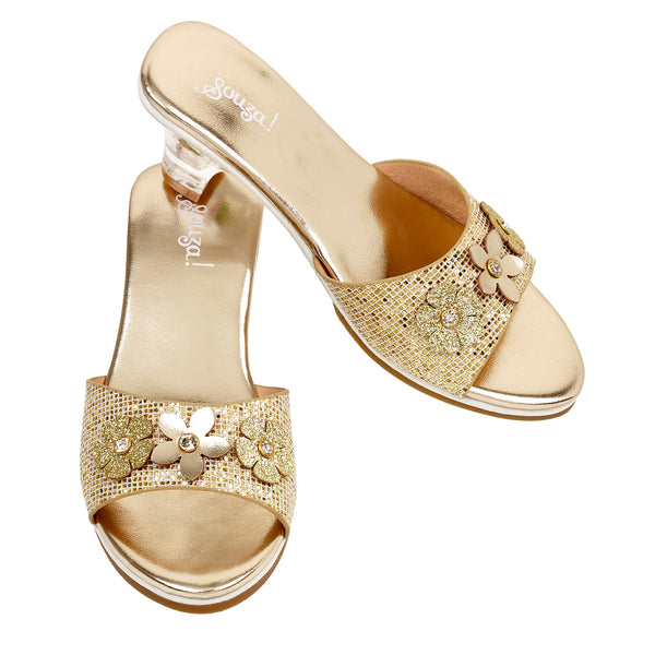 Slipper high heel Ellina, gold metallic