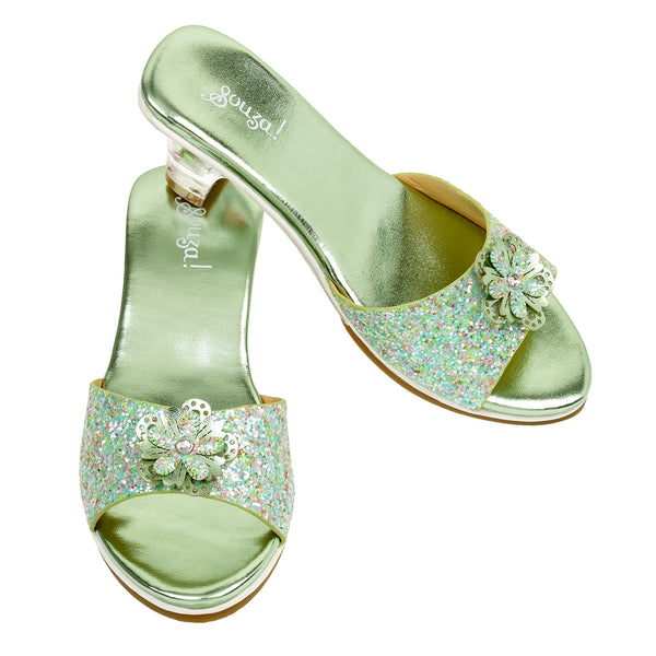Slipper high heel Pippa, mint green metallic
