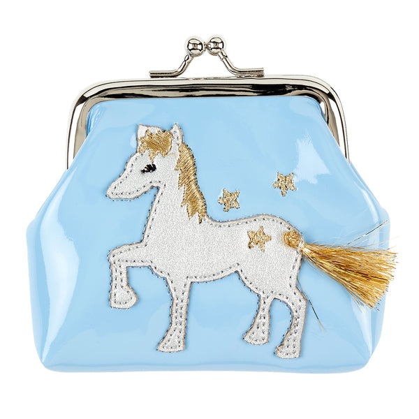 Wallet Marith horse, blue