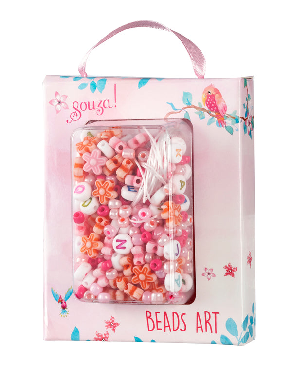 Beads activity kit ABC pink
