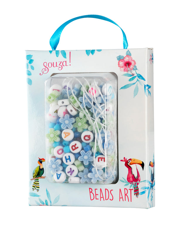 Beads activity kit ABC blue