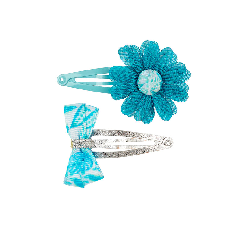 Hair clips Xana, blue