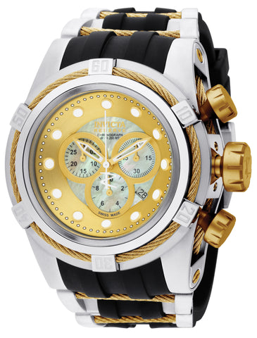 Invicta 0828 Men's Bolt Quartz Chronograph Gold Dial Watch