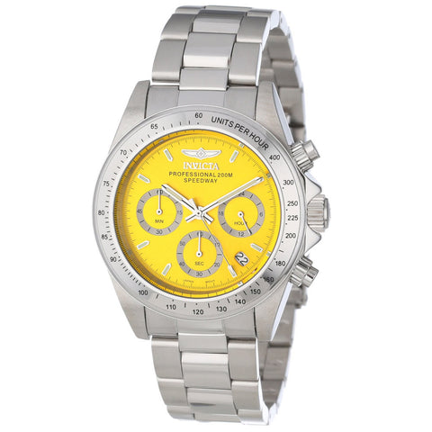 Invicta 14383 Men's Speedway Quartz Chronograph Yellow Dial Watch