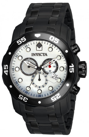 Invicta Men's 80076 Pro Diver Quartz 3 Hand White Dial  Watch