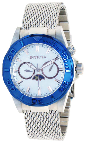 Invicta 80321 Men's Pro Diver Quartz Multifunction Mother Of Pearl Dial Watch