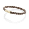 Bracelet Bolt Brown With 24K Gold Clasp