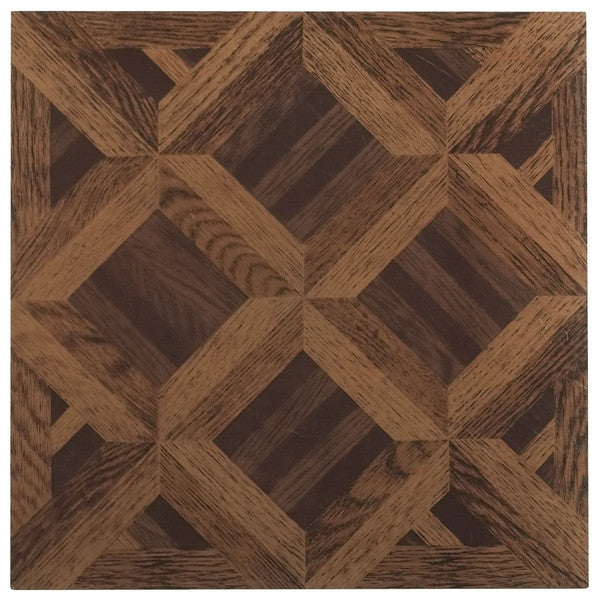 Vinyl Floor Tile Wood Wood Basket Weave Light And Dark Oak - Basket weave vinyl flooring