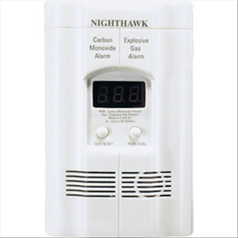 Gas/Carbon Monoxide Combo Unit w/ Digital Readout, Hide-A-Way Cord, & Battery Backup