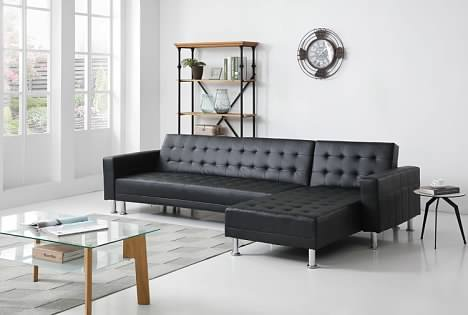 Greatime S2605 Leatherette Convertible Sectional Sofa (More Colors Available)