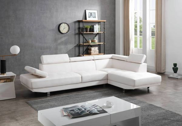 Greatime S2607 Moden Leatherette Section Sofa