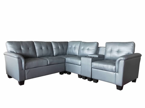 Greatime S2304  Vinyl Sectional Sofa