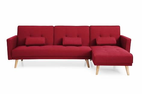 Greatime S2601 Fabric Convertible Sectional Sofa (More Colors Available)