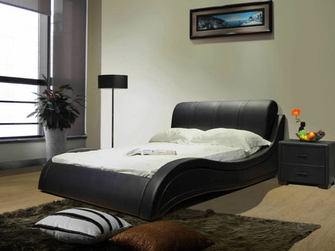 Greatime B1130 Upholstered ModernPlatform Bed
