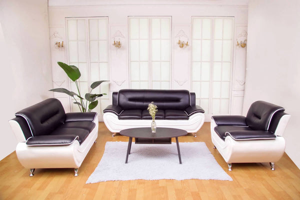 Greatime SS2301 leatherette Modern Sofa Set