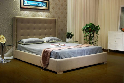 Greatime B1113 Fabric Platform Bed