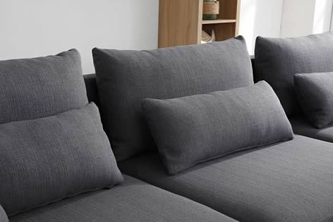 Greatime S2604 Fabric Reversible Sectional Sofa (More Colors Available)