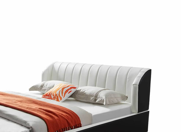 Greatime B2408 Black and White Modern Bed