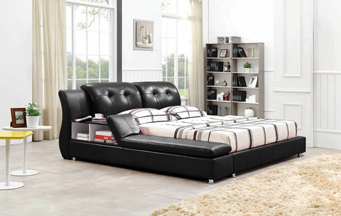 Greatime B2003 Modern Platform Bed with Siderail Storage (More Colors Available)