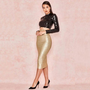 Heavyweight Bandage High Waist Skirt