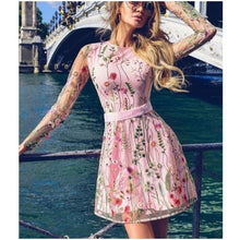 Charger l'image dans la galerie, Sheer Layer Lace Embroidery Skater Dress