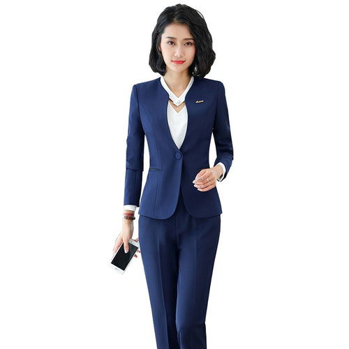 V-Neck Slim Fit Office Suit