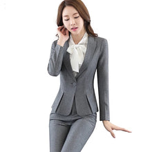 Load image into Gallery viewer, Uniform Design Notched Collar Slim Fit Suit