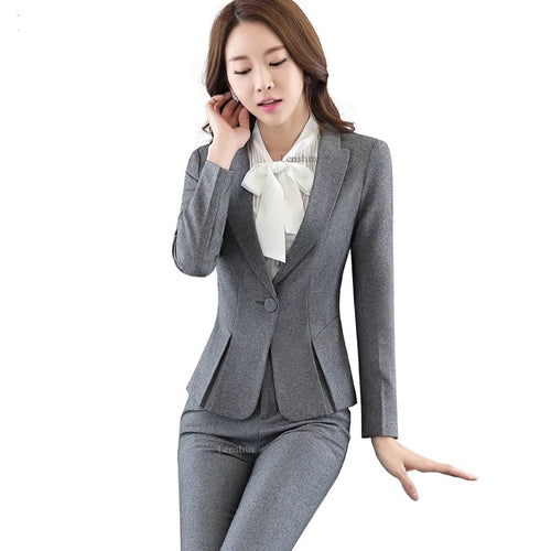 Uniform Design Notched Collar Slim Fit Suit