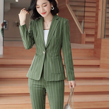 Load image into Gallery viewer, Slim-Fit Striped Formal Suit
