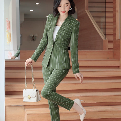 Slim-Fit Striped Formal Suit
