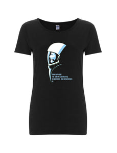 t-shirt donna - GAGARIN / NERA - linea ПРАВО