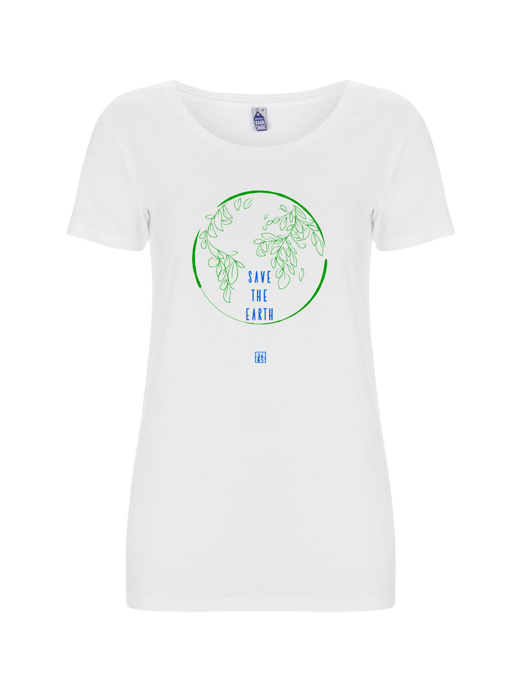 t-shirt donna - SAVE THE EARTH / BIANCA - linea Extra track