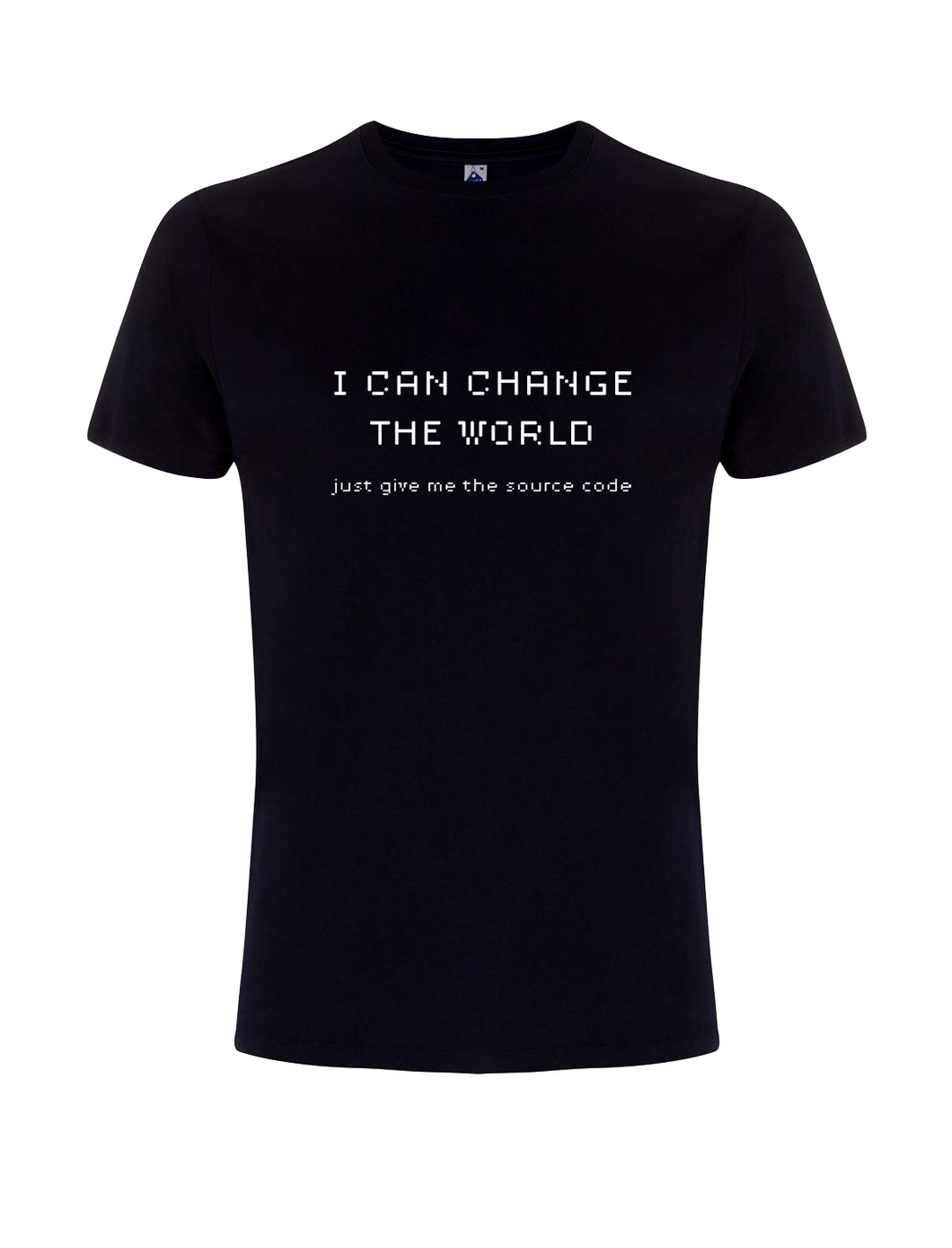 t-shirt I CAN CHANGE THE WORLD / BLU - linea Extra track
