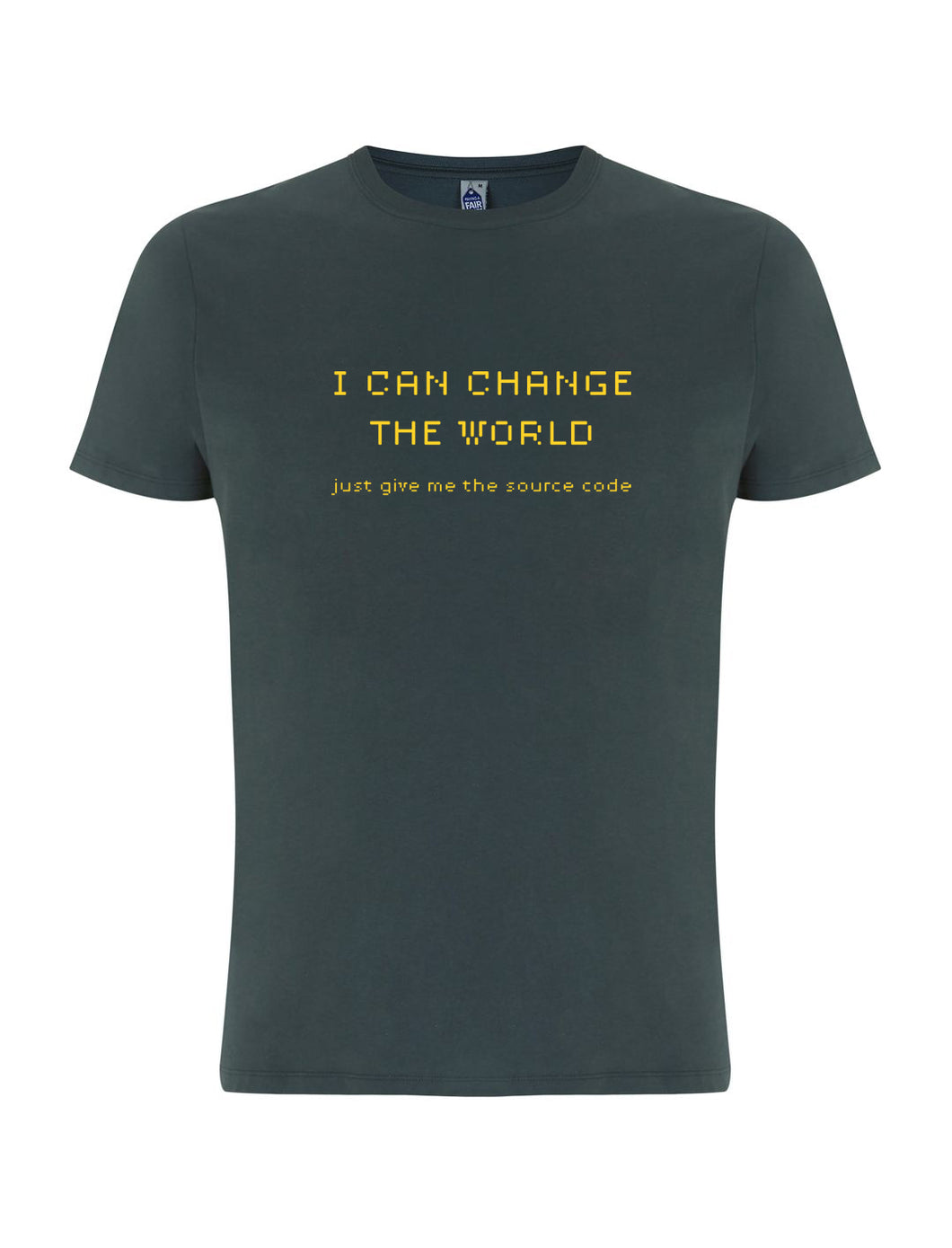 t-shirt I CAN CHANGE THE WORLD / GRIGIA - linea Extra track