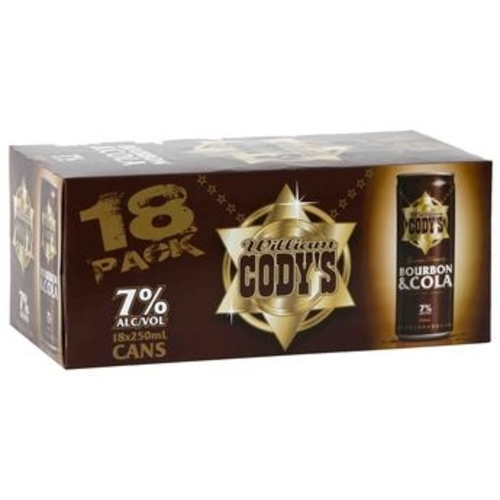 CODYS 7% 250ML Cans 18PK