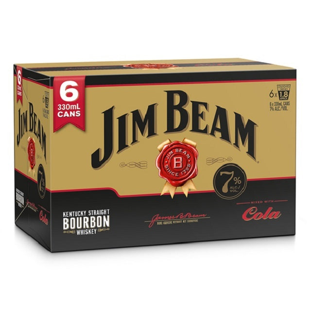 JIM BEAM GOLD 7% 6PK CANS