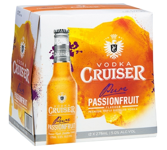 VODKA CRUISER 5% PASSIONFRUIT Bottles 12PK