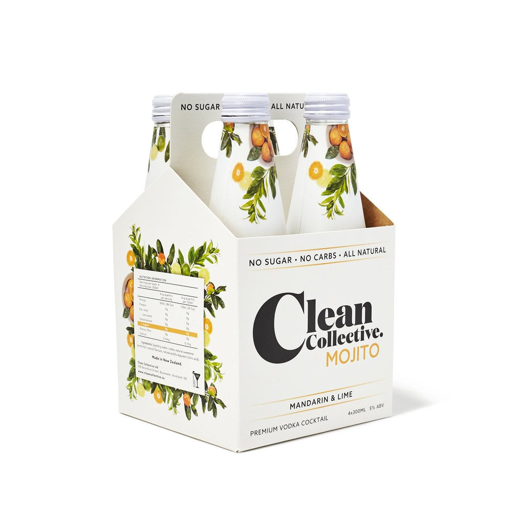 Clean Collective Mandarin & Lime Vodka 4PK Bottles