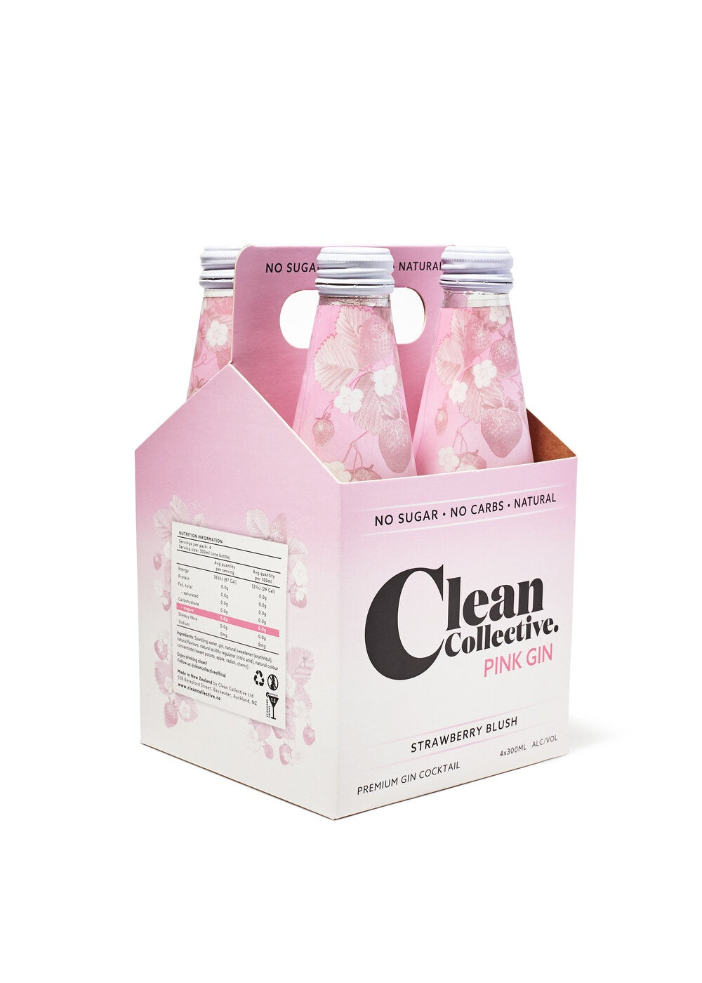 Clean Collective Pink Gin 4PK Bottles