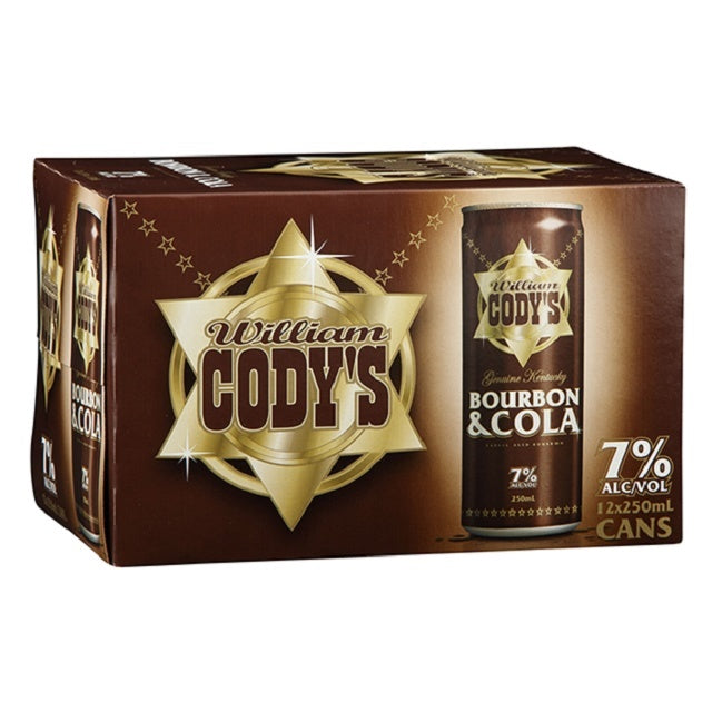 CODYS 7% 250ML Cans 12PK