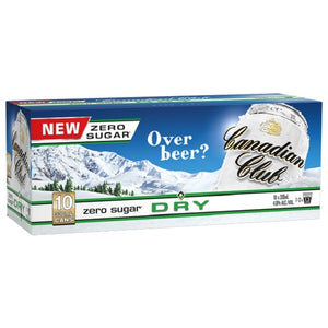 CANADIAN CLUB DRY ZERO 10PK CANS