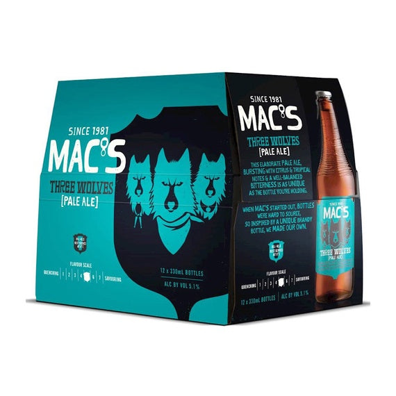 MAC THREE WOLVES 12PK Bottles
