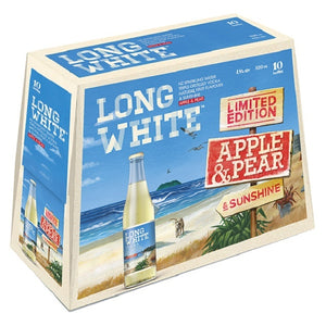 LONG WHITE APPLE & PEAR Bottles 10PK