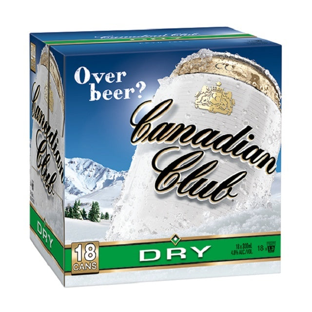 CANADIAN CLUB DRY 18PK Cans