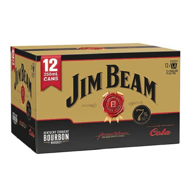 JIM BEAM GOLD & COLA 7% 12PK