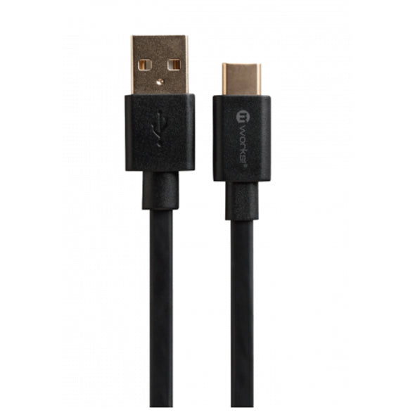 FLAT TYPE-C SYNC & CHARGE CABLE 2.0 METER BLACK